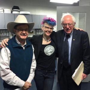 Jim Hightower, Deanna Zandt, Bernie Sanders