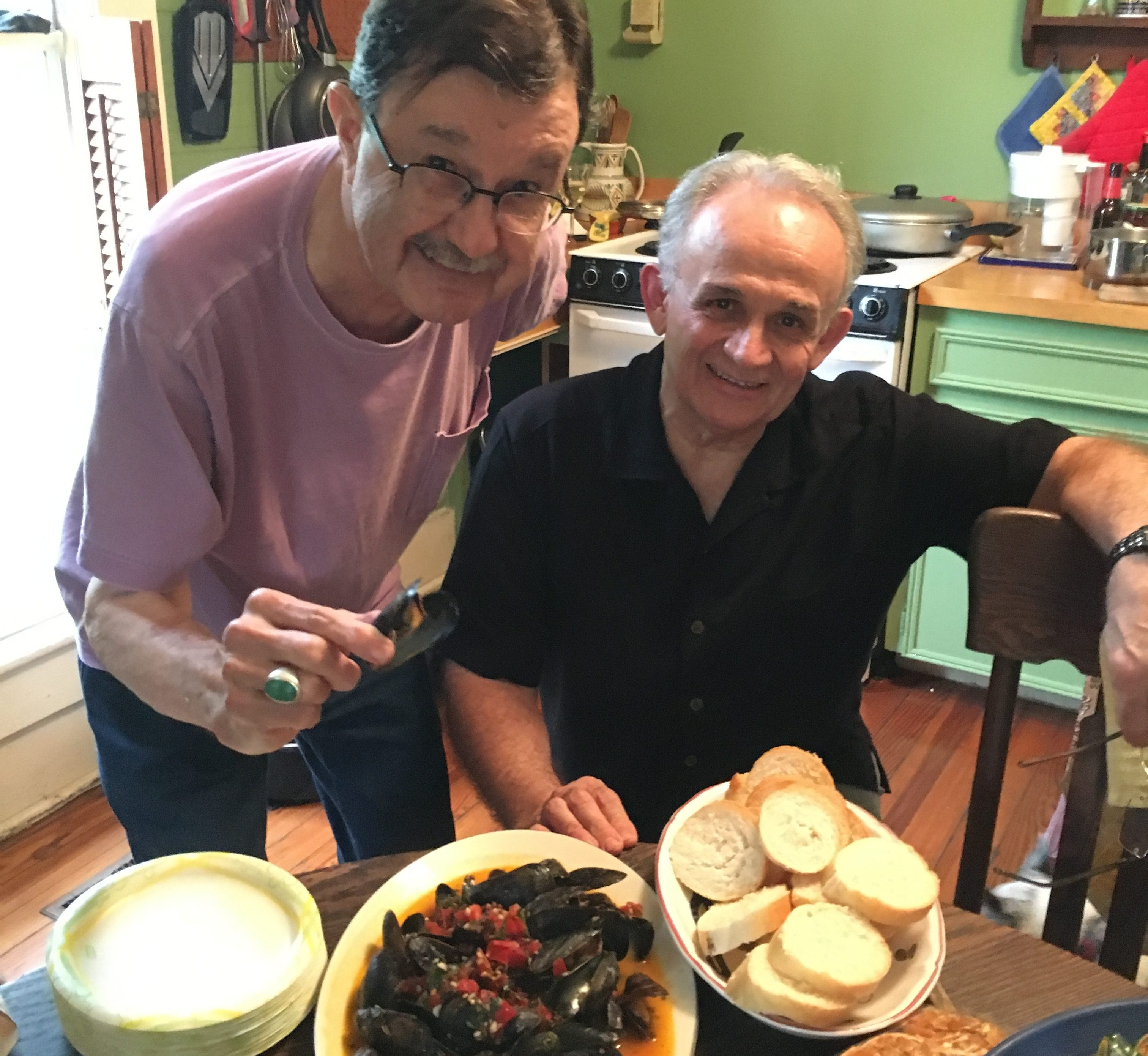 Hightower and longtime friend & confidant, Mac Martinez, with Mac's incredible mussels