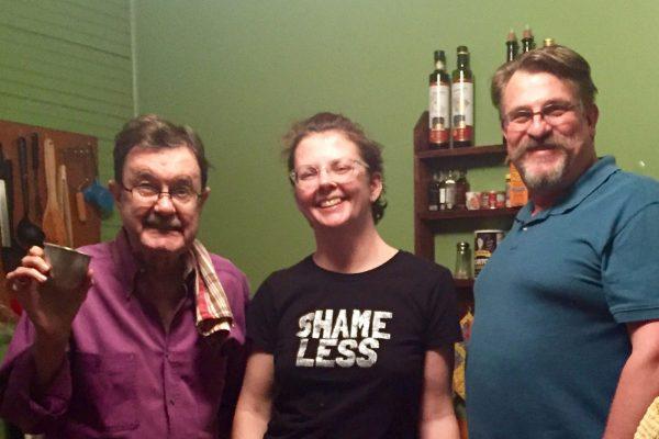 Cleanup duty with Hightower, Deanna, Alvin (husband longtime Hightower showrunner, Laura Ehrlich)